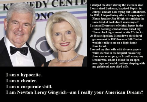 Newton Leroy Gingrich-Testa di cazzo
